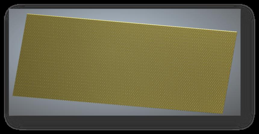 Поверхность латуни подготовленная к гравировке